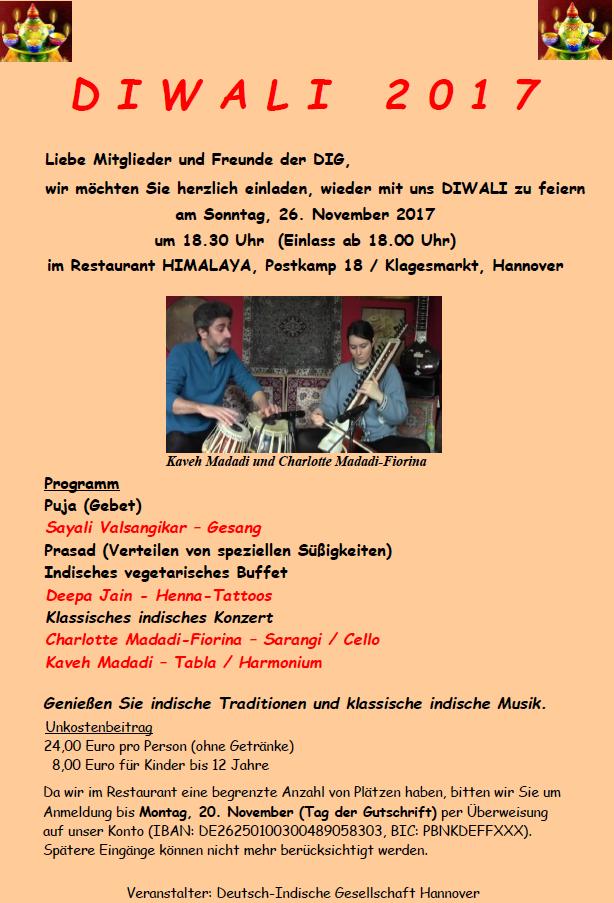DIWALI Lichtfest @ Restaurant HIMALAYA | Hannover | Niedersachsen | Deutschland