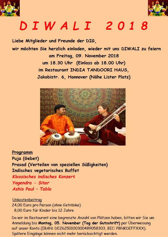 DIWALI  LICHTFEST @ India Tandoori Haus | Hannover | Niedersachsen | Deutschland